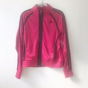 Adidas Hot Pink Full Zip Active Jacket Size S